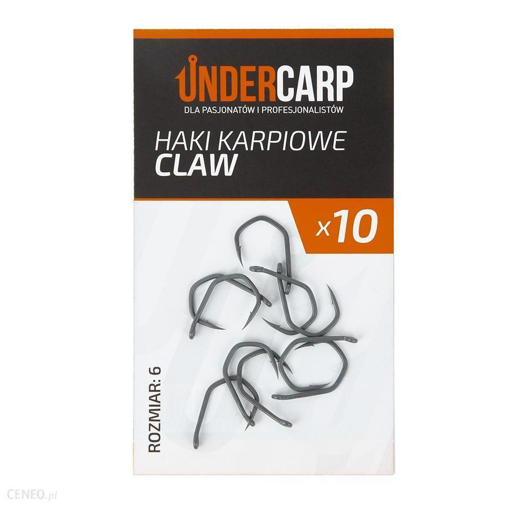 Undercarp Teflonowe Haki Karpiowe Claw Nr 6